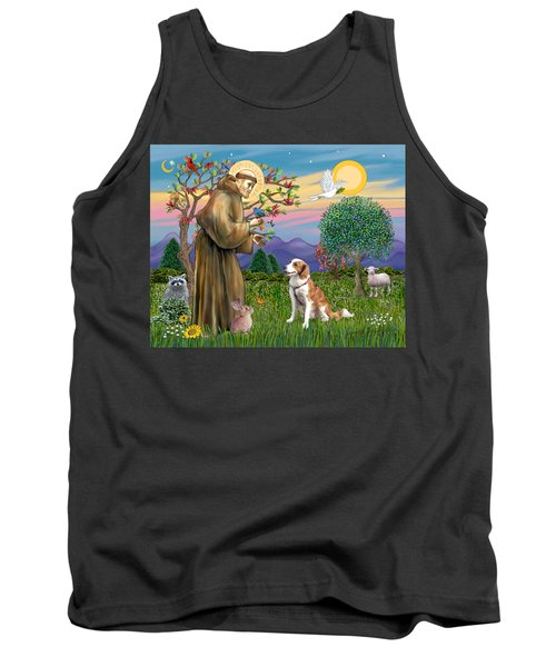 Saint Francis Blesses A Welsh Springer Spaniel Tank Top