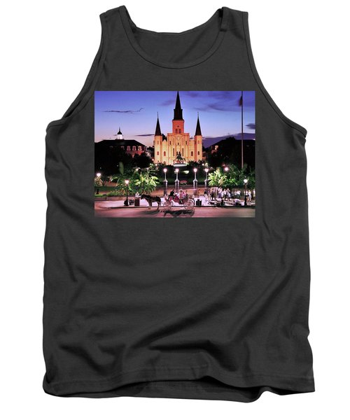 Saint Louis Cathedral New Orleans Tank Top by Allen Beatty