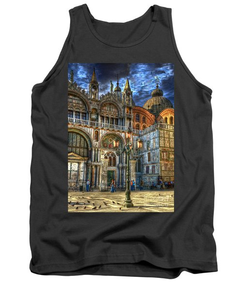 Tank Top featuring the photograph Saint Marks Square by Jerry Fornarotto