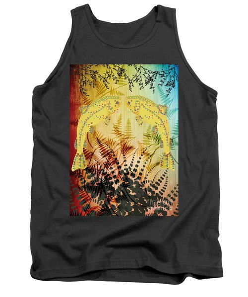 Tank Top featuring the digital art Salmon Love Gold by Kim Prowse