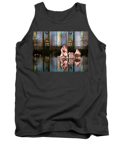 Tank Top featuring the photograph Salt Lake Temple - 2 by Ely Arsha