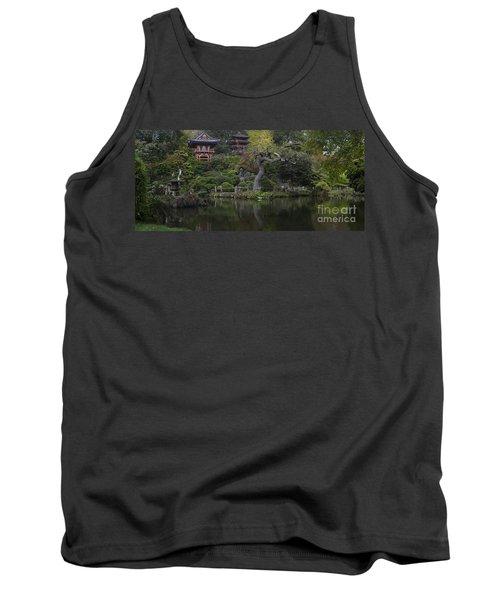 San Francisco Japanese Garden Tank Top by Mike Reid