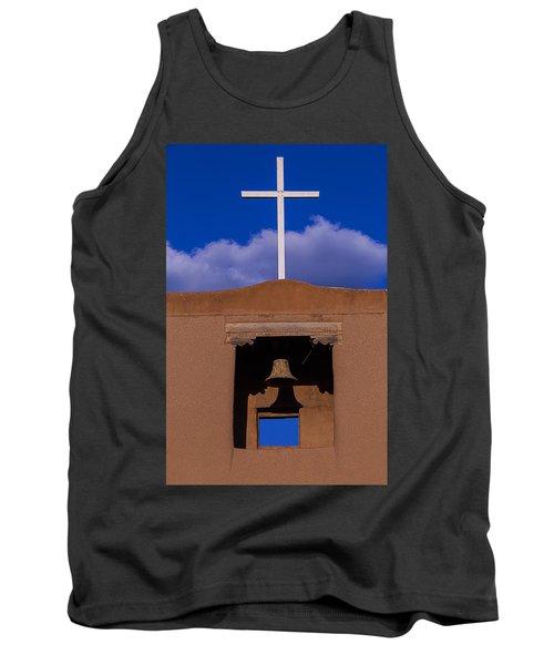 San Miguel's White Cross Tank Top