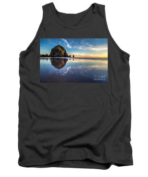 Sand Dollar Sunset Repose Tank Top by Mike Reid