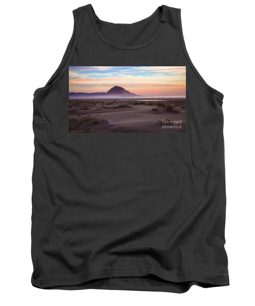 Sand Dunes At Sunset At Morro Bay Beach Shoreline  Tank Top by Jerry Cowart