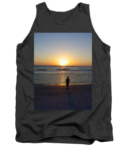 Tank Top featuring the photograph Sand Key Sunset by David Nicholls