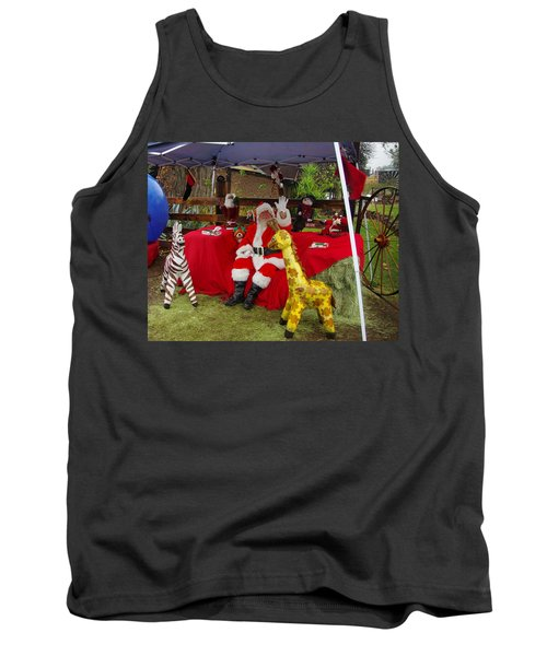 Santa Clausewith The Animals Tank Top