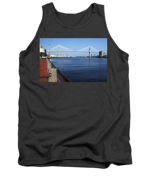 Savannah River Bridge Ga Tank Top