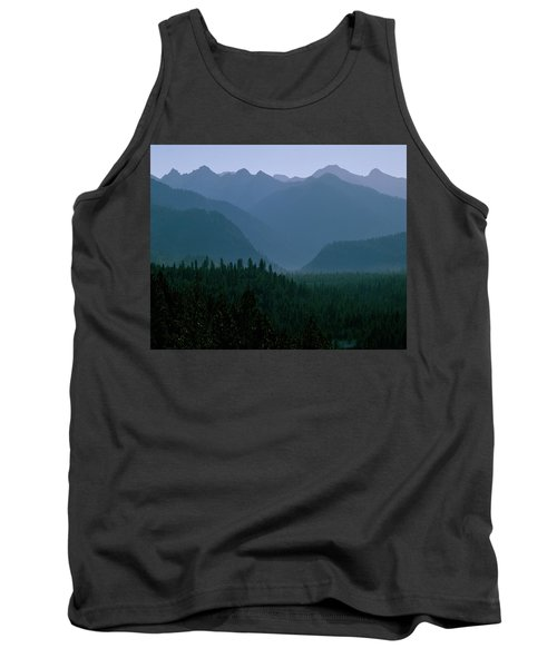 Sawtooth Mountains Silhouette Tank Top by Ed  Riche