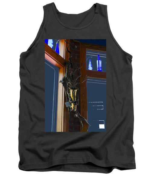Tank Top featuring the photograph Sax At The Full Moon Cafe by Greg Reed