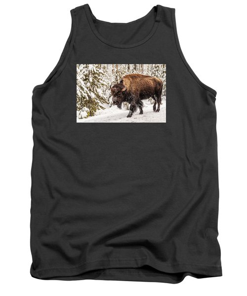 Scary Bison Tank Top