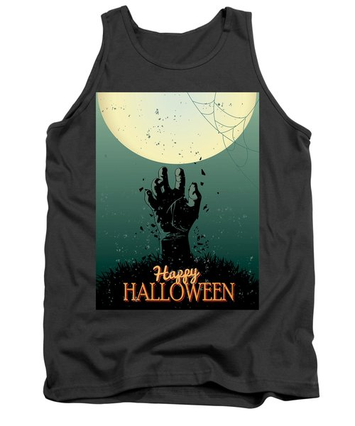 Tank Top featuring the painting Scary Halloween by Gianfranco Weiss
