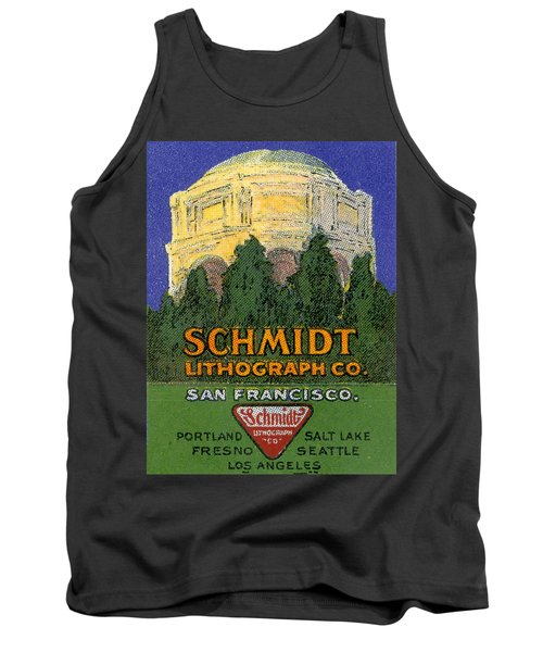 Schmidt Lithograph  Tank Top by Cathy Anderson