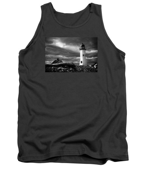 Tank Top featuring the photograph Scituate Lighthouse Under A Stormy Sky by Jeff Folger
