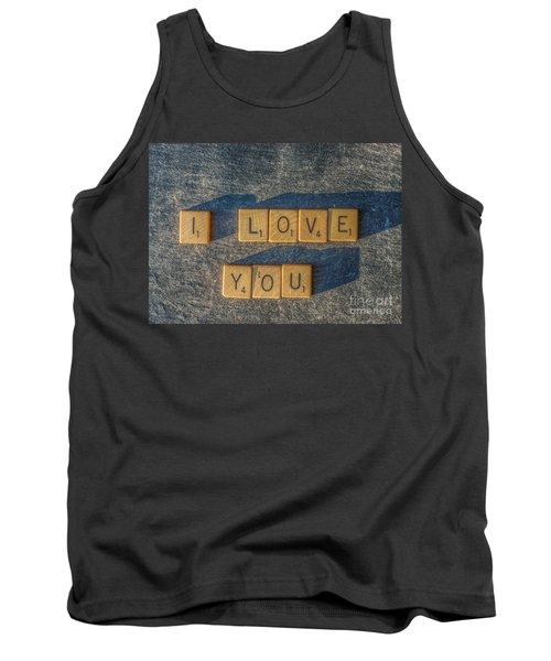 Scrabble I Love You Tank Top by Randy Steele