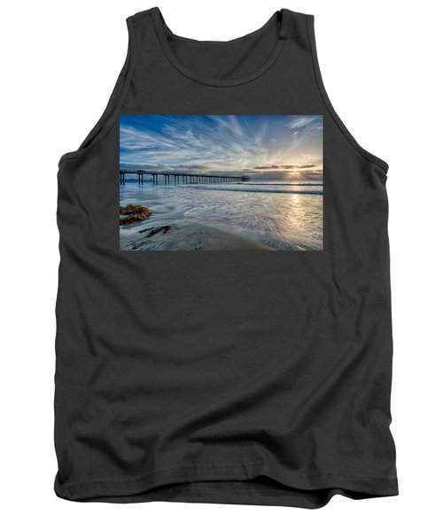 Scripps Pier Sky And Motion Tank Top