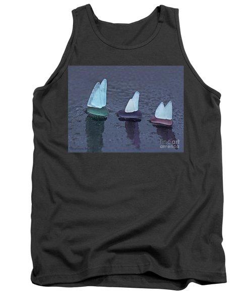 Sea Glass Flotilla Tank Top by Barbara McMahon