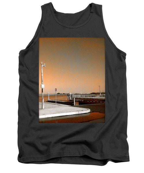 Sea Gulls Watching Over The Wetlands In Orange Tank Top by Amazing Photographs AKA Christian Wilson