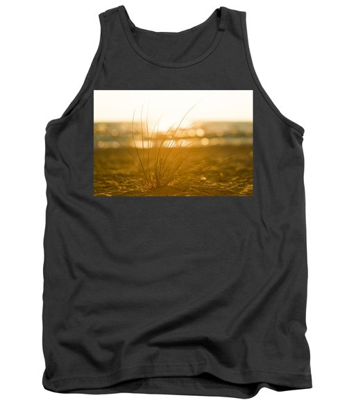 Tank Top featuring the photograph Sea Oats Sunset by Sebastian Musial