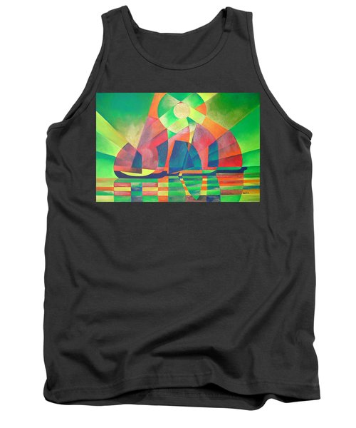 Tank Top featuring the painting Sea Of Green by Tracey Harrington-Simpson