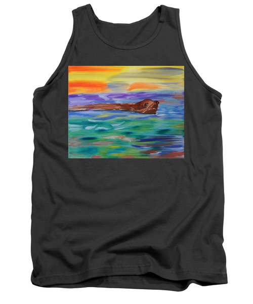 Tank Top featuring the painting Sunny Sea Lion by Meryl Goudey