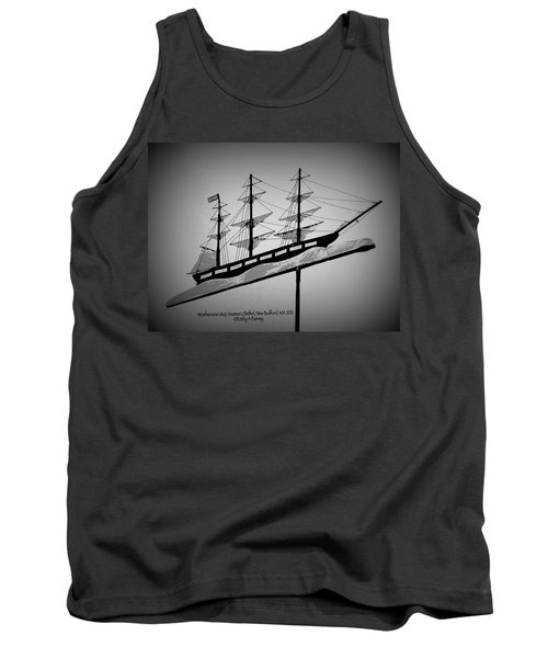 Tank Top featuring the photograph Seaman's Bethel Weathervane  by Kathy Barney