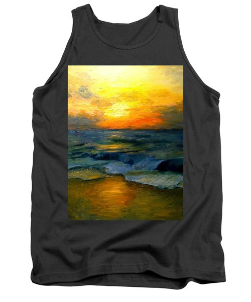 Seaside Sunset Tank Top by Gail Kirtz