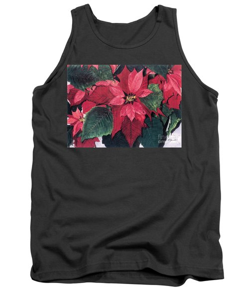 Tank Top featuring the painting Seasonal Scarlet 2 by Barbara Jewell