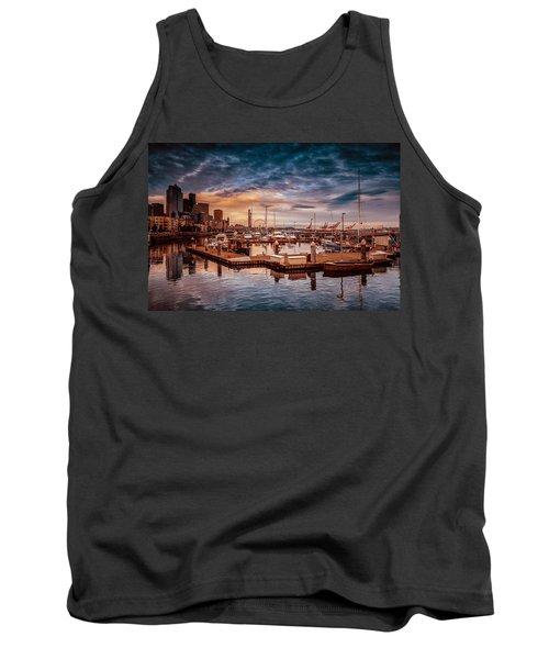 Seattle Marinescape. Tank Top by Eti Reid