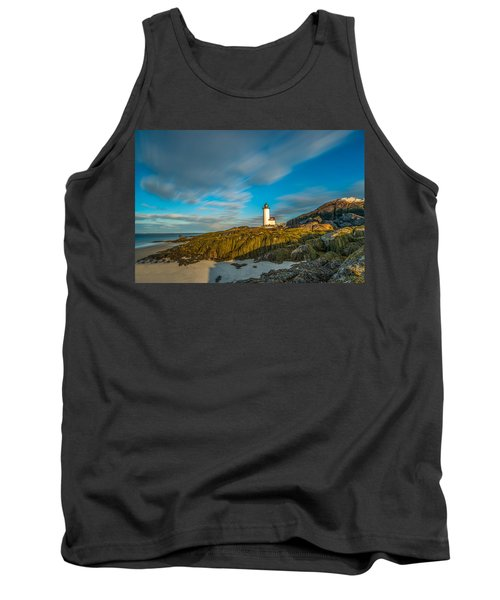 Seaweed Swagger And Time Traveling Clouds  At Annisquam Harbor L Tank Top