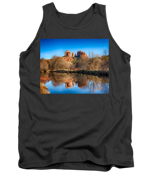 Sedona Winter Reflections Tank Top by Fred Larson