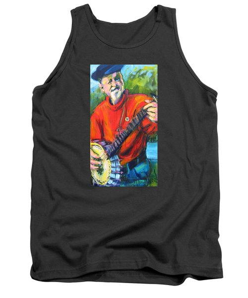 Tank Top featuring the painting Seeger by Les Leffingwell