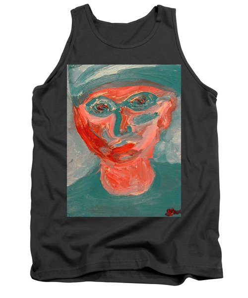 Self Portrait In Turquoise And Rose Tank Top