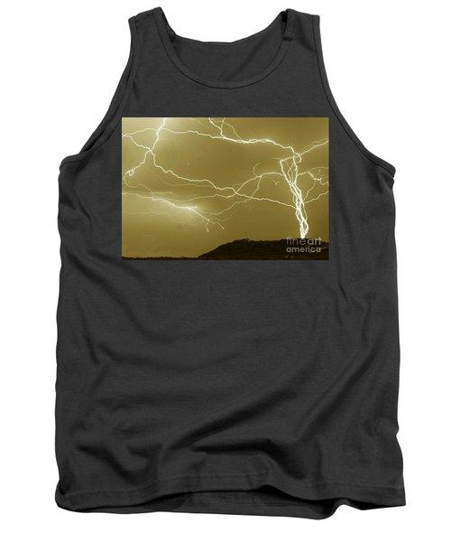 Sepia Converging Lightning Tank Top