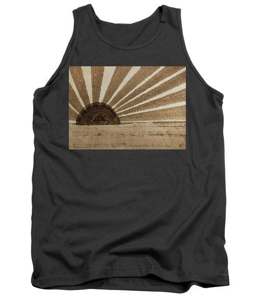 Sepia Sunset Original Painting Tank Top