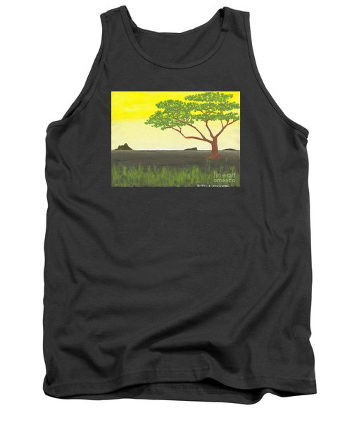 Tank Top featuring the painting Serengeti by David Jackson