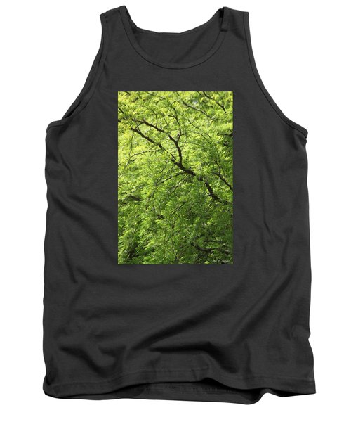 Tank Top featuring the photograph Shades Of Green by Amy Gallagher