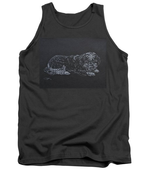 Tank Top featuring the drawing Shadow by Michele Myers