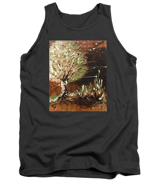 Tank Top featuring the painting Shadows by Holly Carmichael
