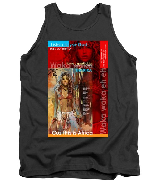 Shakira Art Poster Tank Top by Corporate Art Task Force