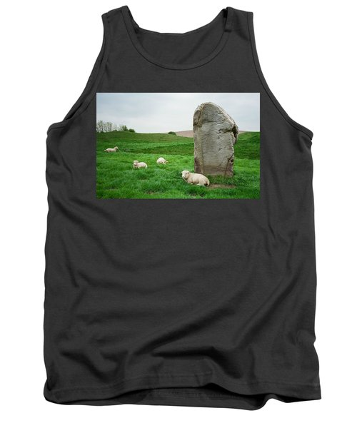 Sheep At Avebury Stones - Original Tank Top