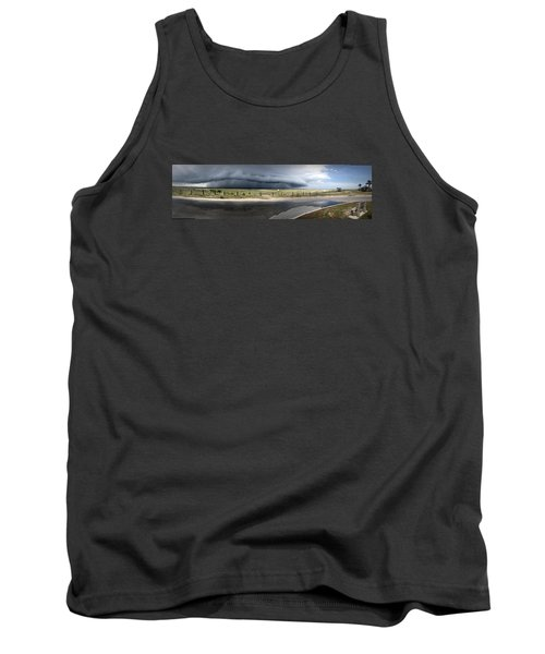 Tank Top featuring the photograph Shell Island Squall by Phil Mancuso