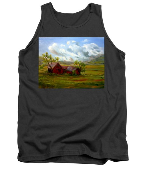 Tank Top featuring the painting Shelter From The Storm by Meaghan Troup