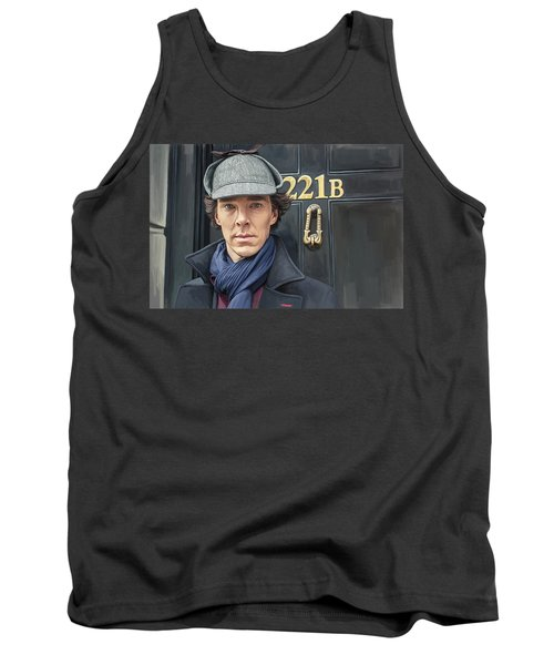Tank Top featuring the painting Sherlock Holmes Artwork by Sheraz A