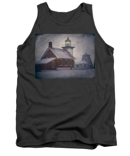 Tank Top featuring the photograph Sherwood Point Light by Joan Carroll
