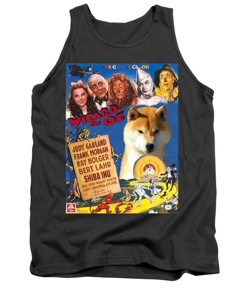 Shiba Inu Art Canvas Print - The Wizard Of Oz Movie Poster Tank Top