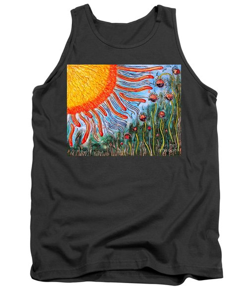 Shine On Me.. Tank Top by Jolanta Anna Karolska