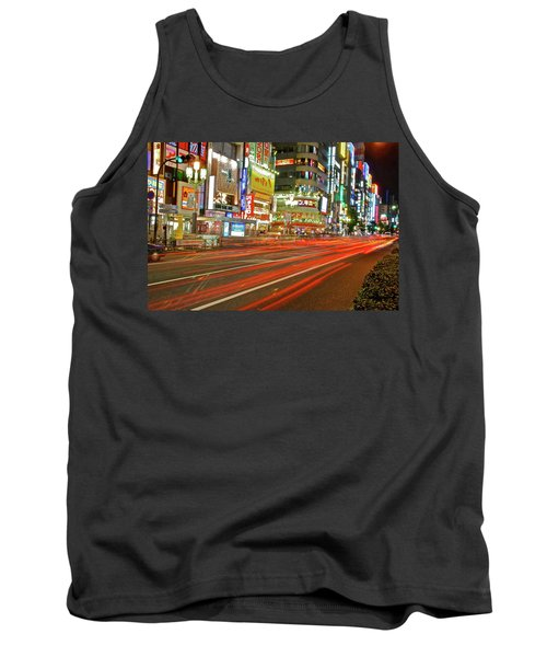Tank Top featuring the photograph Shinjuku Neon Strikes by Jonah  Anderson