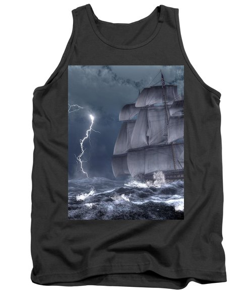 Ship In A Storm Tank Top