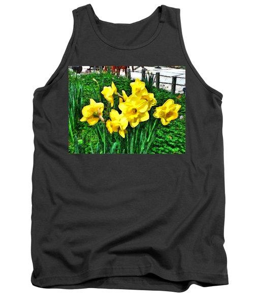 Shy Daffodils  Tank Top